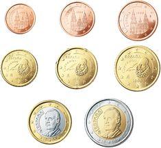 Reversos españoles de las monedas de Euros y céntimos de Euro
