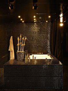 Luxury Bathrooms Black pinterest black and gold in bathroom | beautiful | ~all things