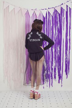 The Virgin Sweater First Down, Rose Embroidery, Cotton Fleece, Lettering, My Style, Sweaters, Inspiration, Create, Garden