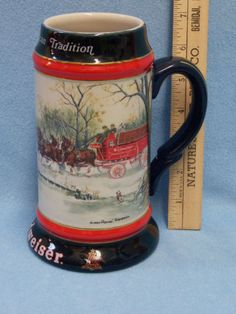 Budweiser Holiday stein