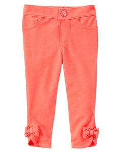 Bow Cuff Jeggings at Gymboree
