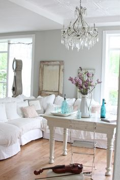 Shabby chic living room..love this