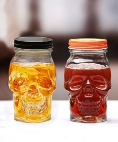 Skull Face 16-Oz. Mason Jar - Set of 12 by Circle Glass #zulily #zulilyfinds