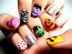 Sácale las uñas a Halloween. Halloween Nail Designs, Halloween Nail Art, Manicure Y Pedicure, Nail Art Designs, Nails, Painting, Color, Beauty, Party Ideas