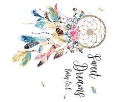 Sweet Dreams Baby Girl / Bohemian Dreams Dream Catcher fabric by shopcabin on Spoonflower - custom fabric