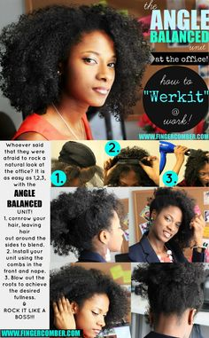 Whoever said that they were afraid to rock a natural look at the office? It is as easy as with the angle balanced unit Pelo Natural, Natural Hair Tips, Natural Hair Journey, Natural Hair Styles, Au Natural, Natural Curls, Afro Hairstyles, Office Hairstyles, Hairdos
