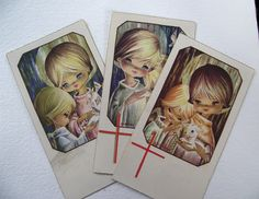 Vintage 1st Holy Communion cards 1968 set of 3 by EvasCollections, $5.95