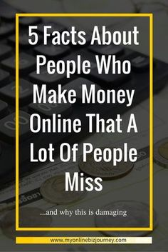 People Who Make Money Online
