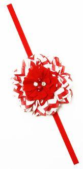 Chiffon Fabric Flower with Elastic Headband Skinny Headbands, Elastic Headbands, Red Chiffon, Chiffon Fabric, Stylish Dresses, Fabric Flowers, Princess, Fashion, Moda