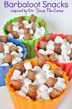 Barbaloot snacks for Dr. Seuss birthday