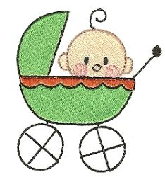 Stix Family Baby 4x4 | Baby | Machine Embroidery Designs | SWAKembroidery.com Designs by Juju