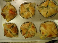 Cupcake Tin Chicken Pot Pies - these look amazing!