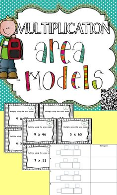 Have your students practice setting up multiplication area models with these task cards! #5.NBT.5 #4.NBT.5 #multiplication