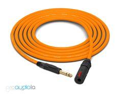 Canare Quad L-4E6S Headphone Extension Cable   Neutrik Gold TRS   Orange 5 Feet