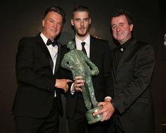 David De Gea presented with the 'Player of the Season' award - May 19, 2015.