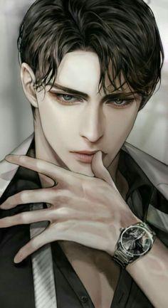 Dark Anime Guys, Cool Anime Guys, Handsome Anime Guys, Hot Anime Boy, Anime Boys, Anime Art Girl, Male Character, Character Portraits, Anime Couples Drawings