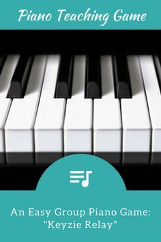 Keyzie Relay; A Group Piano Lesson Game That Will Get Your Students Up and Moving