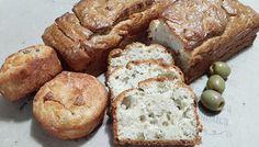 Pão de azeitonas sem glúten nem lactose.