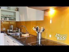 Plexiglas küchenrückwand ~ Küche mit satinierter diamant glas küchenrückwand in
