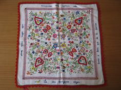 Traditional Portuguese courtship handkerchief.