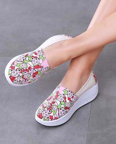 Women's slip on bottom sole shoe sneakers animal print design, casual, leisure, walking occasions. Shape Up Shoes, Pink Animals, Shoe Shop, Print Design, Pink Ladies, Shoe Boots, Espadrilles, Shoes Sneakers, Walking