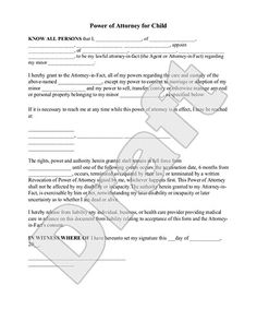 2f92bad7522f1b73e1adccb4b74444e8--power-of-attorney-form Temp Custody Letter Template on visitation journal, for notarized letter child, character reference letter, property receipt, visitation agreement, writing statement for child,
