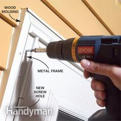A binding, sticking storm door will eventually cause more damage if it's not repaired. Here's how to diagnose the problem and make the door hang properly and close smoothly. Aluminum Storm Doors, Aluminum Screen Doors, Painted Storm Door, Storm Door Installation, Glasgow, Home Depot, Screen Door Repair, Double Storm Doors, Larson Storm Doors