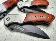 Groomsmen Knives, Gift for Groomsmen, Wedding Favors, Folding Pocket Knife, Custom Pocket Knife, Birthday Gift for Men Custom Engraved Knife
