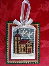 Finished / Completed Cross Stitch Christmas Ornaments