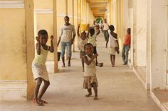 Children having fun, Mozambique Island, East Africa
