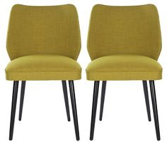 Ochre Ethel Dining Chairs, Pair | Viva México | One Kings Lane