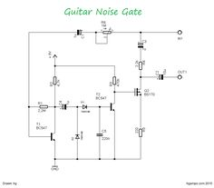This circuit is very simple guitar noise gate helps a lot if you're already mad because of the unwanted noise. Set up and use!
