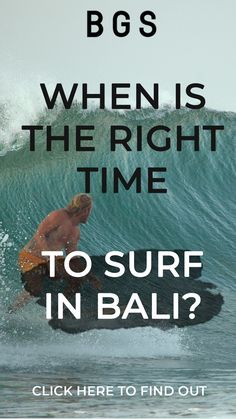 For a surfer, it's best to find out when is the right time to surf in Bali so you can schedule your trips much better. Bali, Surfing Tips, Right Time, Schedule, How To Find Out, Trips, Life, Timeline, Traveling