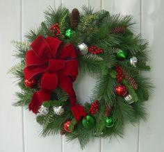 Holiday/ Christmas wreath Winter door decoration by DoorDecorShop
