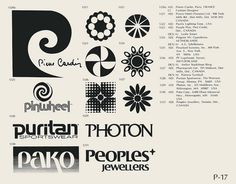 Eric Carl Collection of vintage logos from a edition of the book World of Logotypes jpg Logos Typo Logo Design, Vintage Logo Design, Vintage Logos, Graphic Design, Vintage Designs, Retro Vintage, Logo Luxury, Prince, Logo Samples