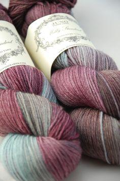 Milly Standard Sock Yarn - Superwash Merino - Cherry Blue
