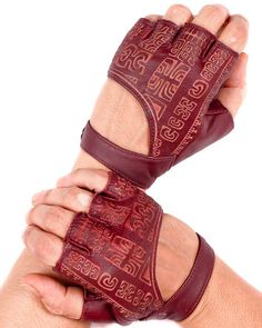 These are probably just gloves, but with the pre-Colombian reminiscent markings they might be usable for casting and divination. - Fingerless Gloves Leather Gloves Riding by eleven44jewelry