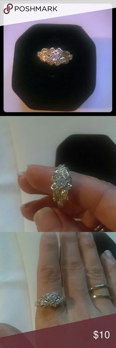 .925 silver ring Sterling Silver crystal ring Jewelry Rings