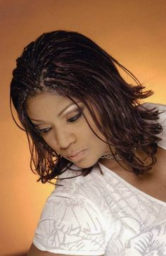 What You Should Consider In Having Micro Braids Hairstyles Micro braids hairstyles can be a great choice if you want to try different styles of curly or waves hair. Micro braids are one of popular hairstyle t. African American Braided Hairstyles, Braided Hairstyles For Black Women, Braids For Black Women, Black Braids, Micro Braids Hairstyles, Braids For Short Hair, Bob Hairstyles, Wedding Hairstyles, Black Hairstyles