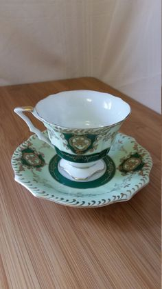 Excited to share the latest addition to my #etsy shop: Ucagco Japan Ceramic 1940-1950 Mint Green Tea Cup and Saucer Vintage Teacup Tea Lover Gift Home & Living Drinkware Classic Gift for Mom https://etsy.me/2Gs9v59 #TeacupandSaucer #VintageTeacup #VintageFinds