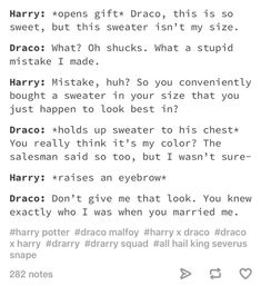 Not a fan of drarry but this is funny Harry Potter Draco Malfoy, Harry Potter Ships, Harry Potter Jokes, Harry Potter Universal, Harry Potter Fandom, Hermione Granger, Drarry, Dramione, Ron Weasley