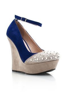 spiked two-tone wedges $24.95  I ordered these in black.