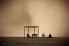 Burning Man 2010 - Waiting Out a Dust Storm - Photo by Scott London