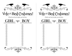 voting slips template - 1000 images about halloween printables on pinterest