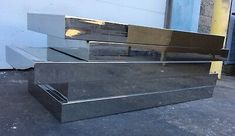 Modern Chrome And Glass Coffee Table Mid Century Vintage Wooden Console Table, Brass Table Lamps, Wooden Tables, Coffee Table Base, Modern Coffee Tables, Glass Top Side Table, Mid Century Coffee Table, Modern Glass, Modern Retro