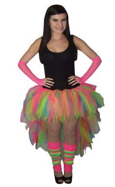 One of our best sellers! A gorgeous rainbow neon waterfall tutu from Honey B's! #tutu #rainbow #rainbowtutu #neon #colour #neoncolours #waterfall #waterfalltutu