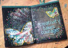 Cardboard Art Journal - Gwen Lafleur