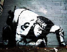 #bansky graffiti art#