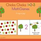 Chicka Chicka 123 Math Games - 5 games for your students to practice numbers 1-20 or counting by 10s to 100