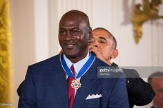 President Barack Obama awarded the Presidential Medal of Freedom to Michael Jordan, retired pro basketball player, businessman, and principal owner and chairman of the Charlotte Hornets. Girls Basketball Shoes, Pro Basketball, Basketball Players, Michael Jordan Unc, Jeffrey Jordan, Basketball Game Tickets, Rules For Kids, Like Mike, Nba Players